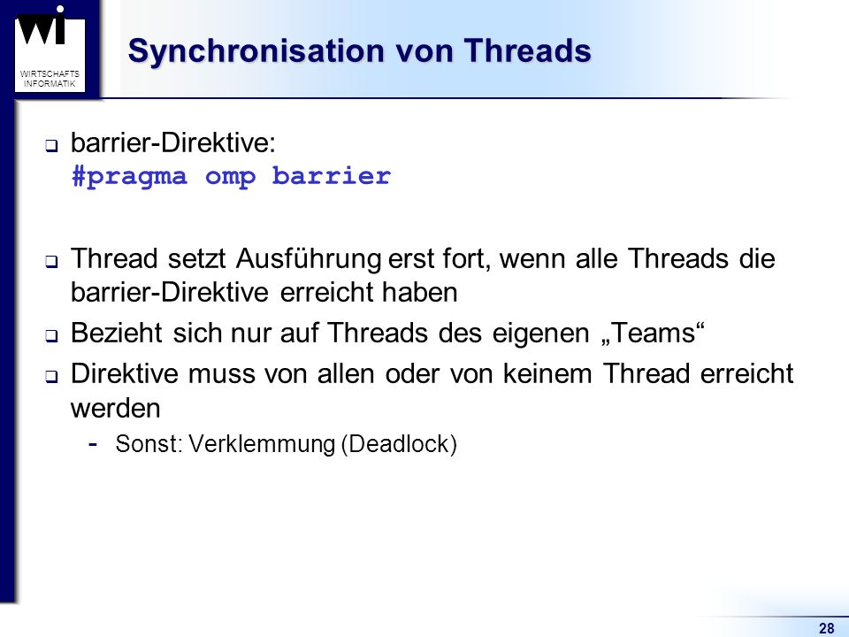 Synchronisation von Threads