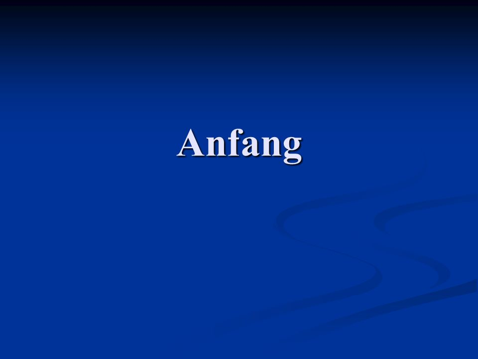 Anfang Test