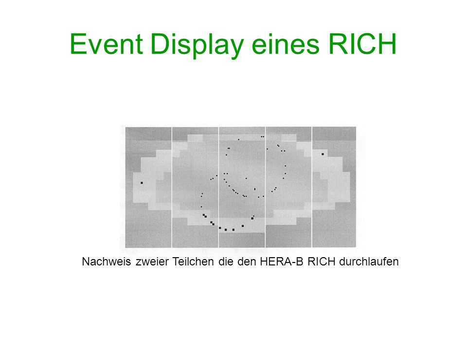 Event Display eines RICH