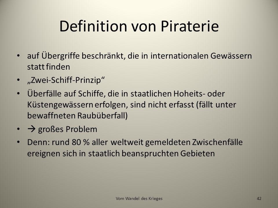 Definition von Piraterie