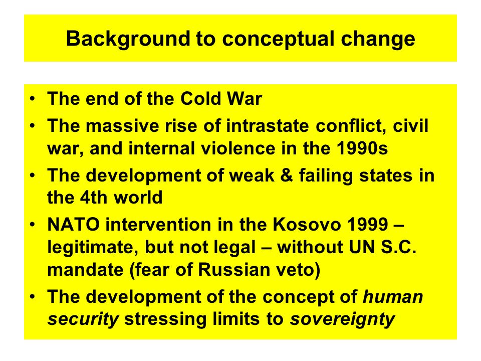 Background to conceptual change