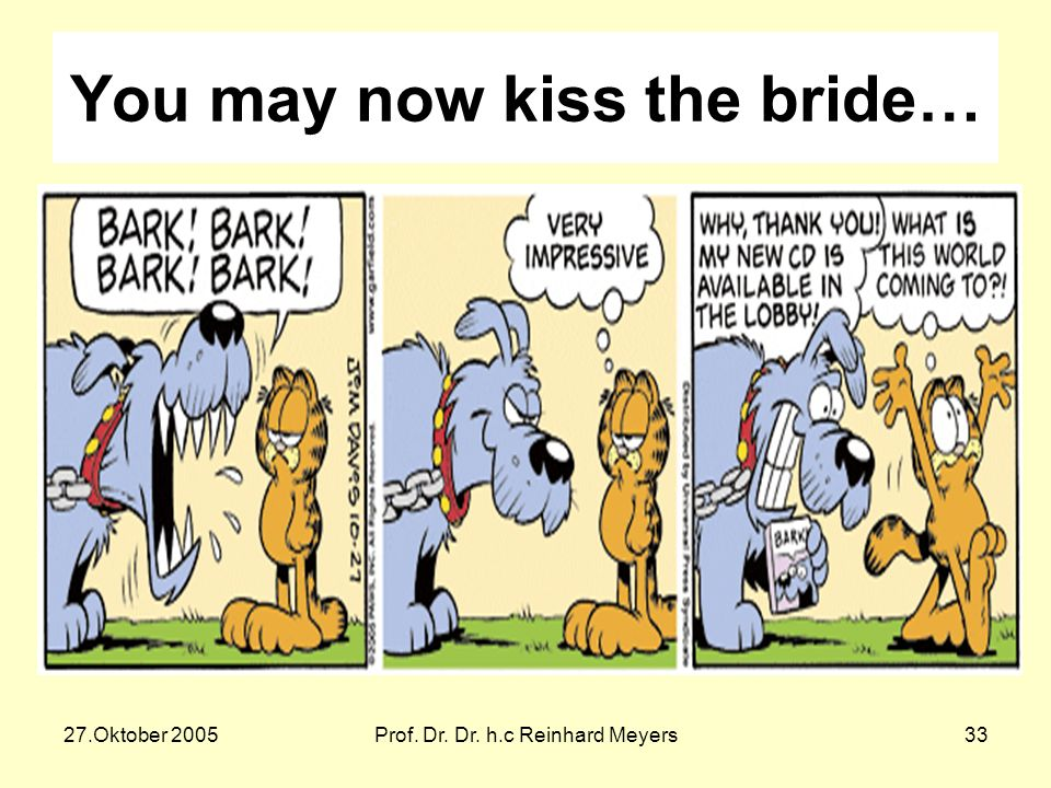 You may now kiss the bride…