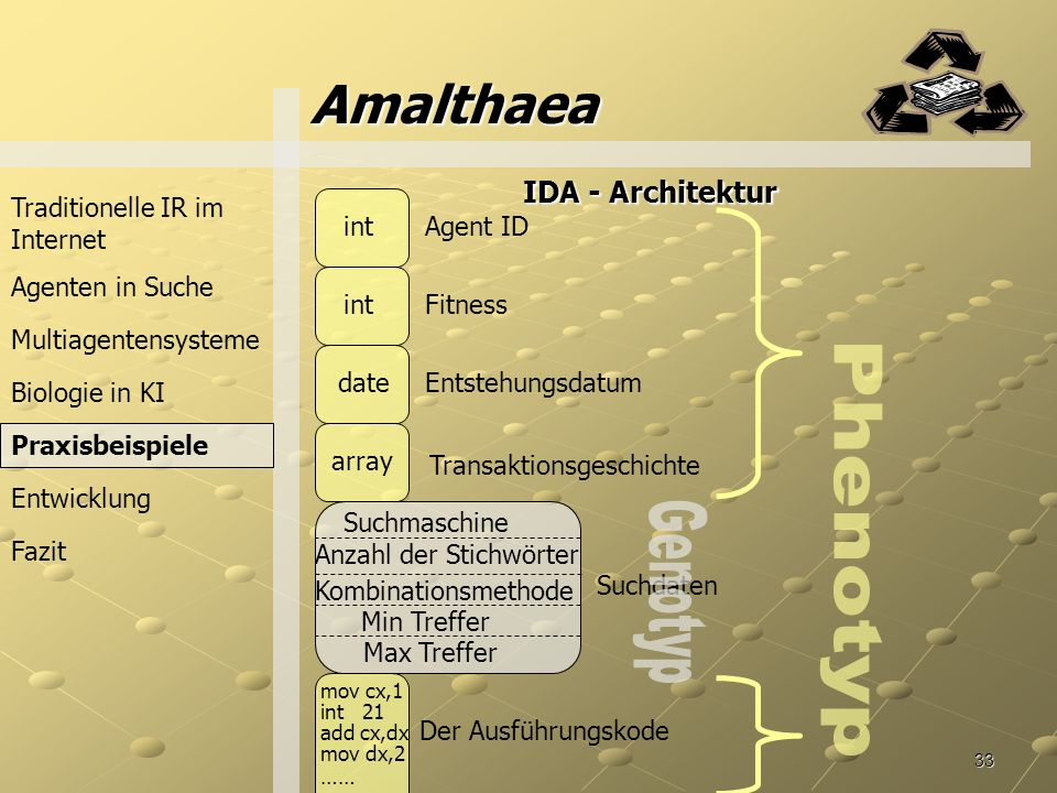Amalthaea Phenotyp Genotyp IDA - Architektur