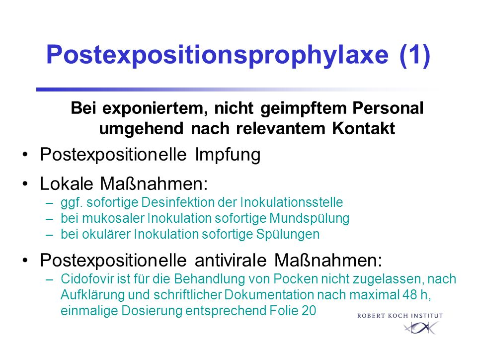 Postexpositionsprophylaxe (1)