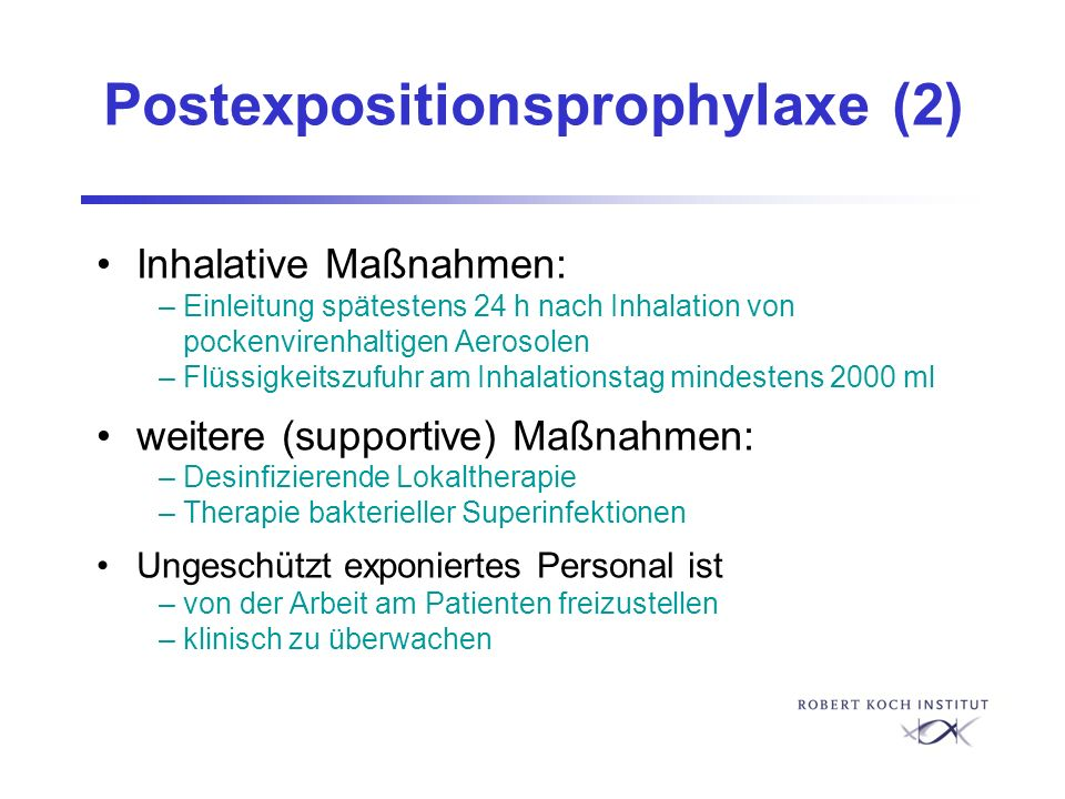 Postexpositionsprophylaxe (2)