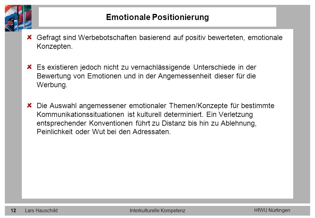 Emotionale Positionierung