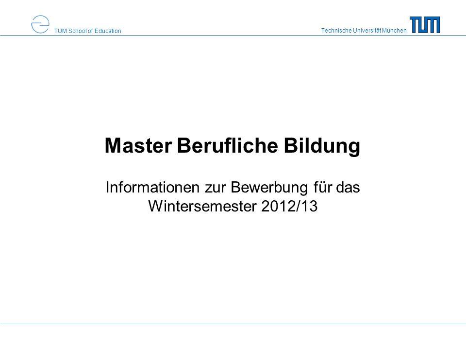 master berufliche bildung - Master Bewerbung
