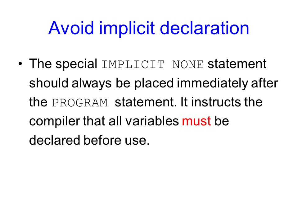 Avoid implicit declaration