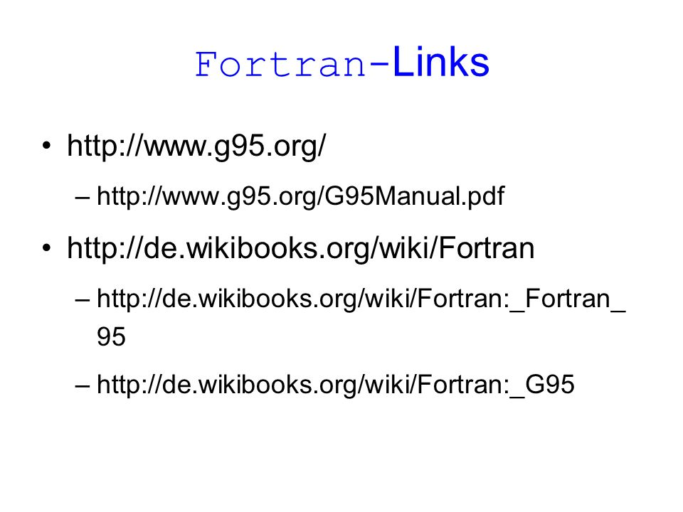 Fortran-Links