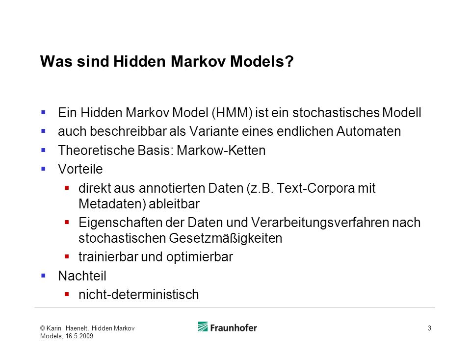 Was sind Hidden Markov Models