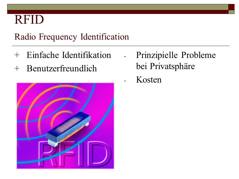 RFID Radio Frequency Identification