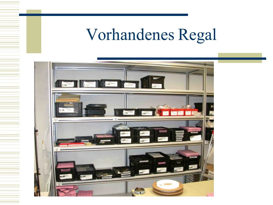 Vorhandenes Regal