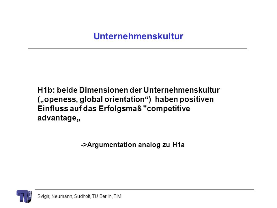->Argumentation analog zu H1a