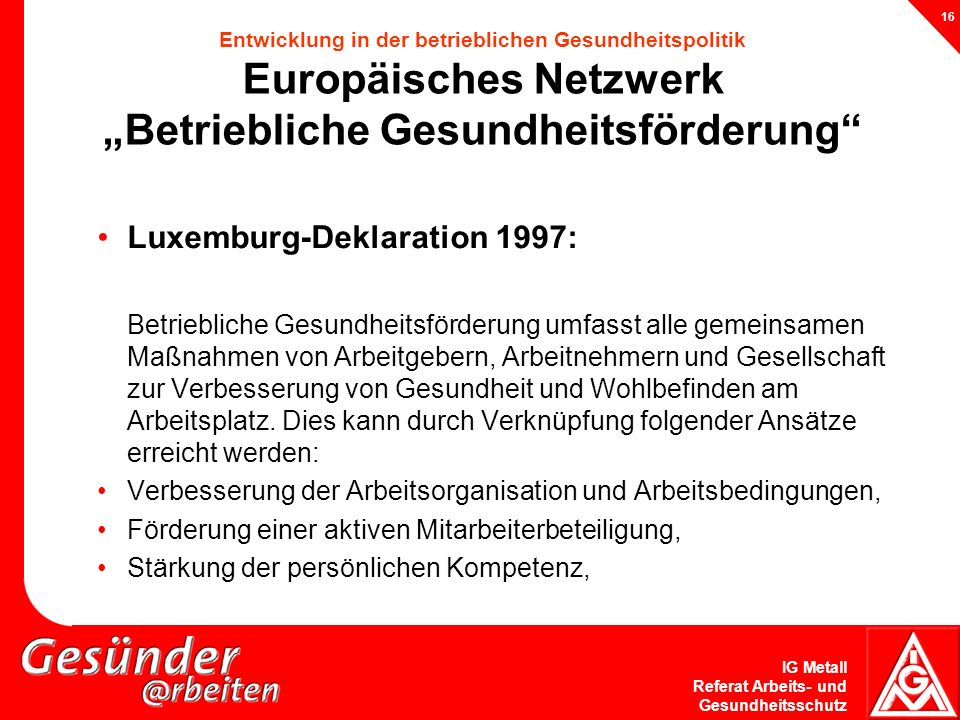 Luxemburg-Deklaration 1997:
