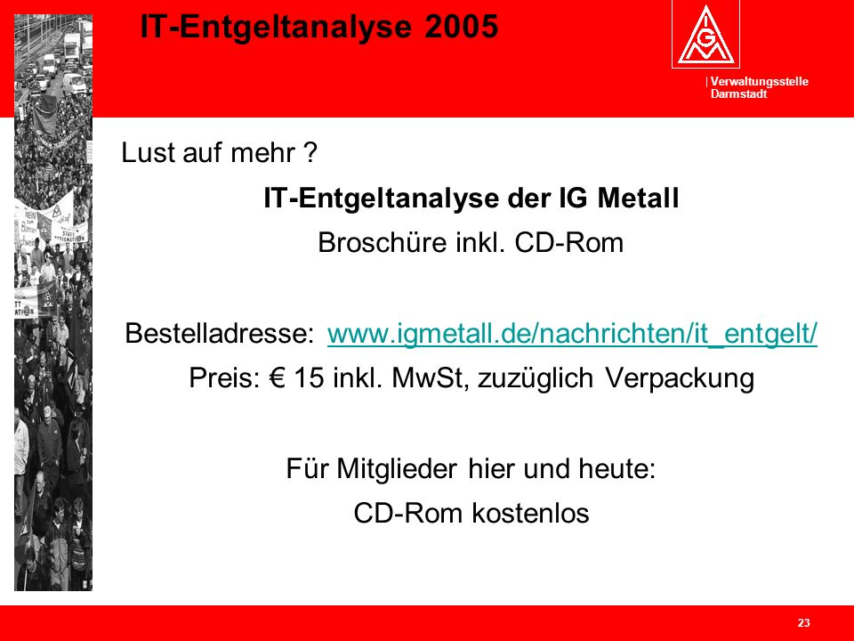 IT-Entgeltanalyse der IG Metall