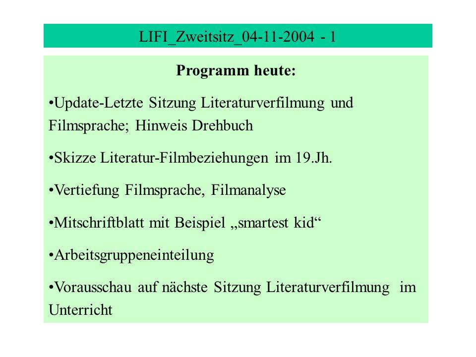 LIFI_Zweitsitz_ Programm heute: - ppt herunterladen