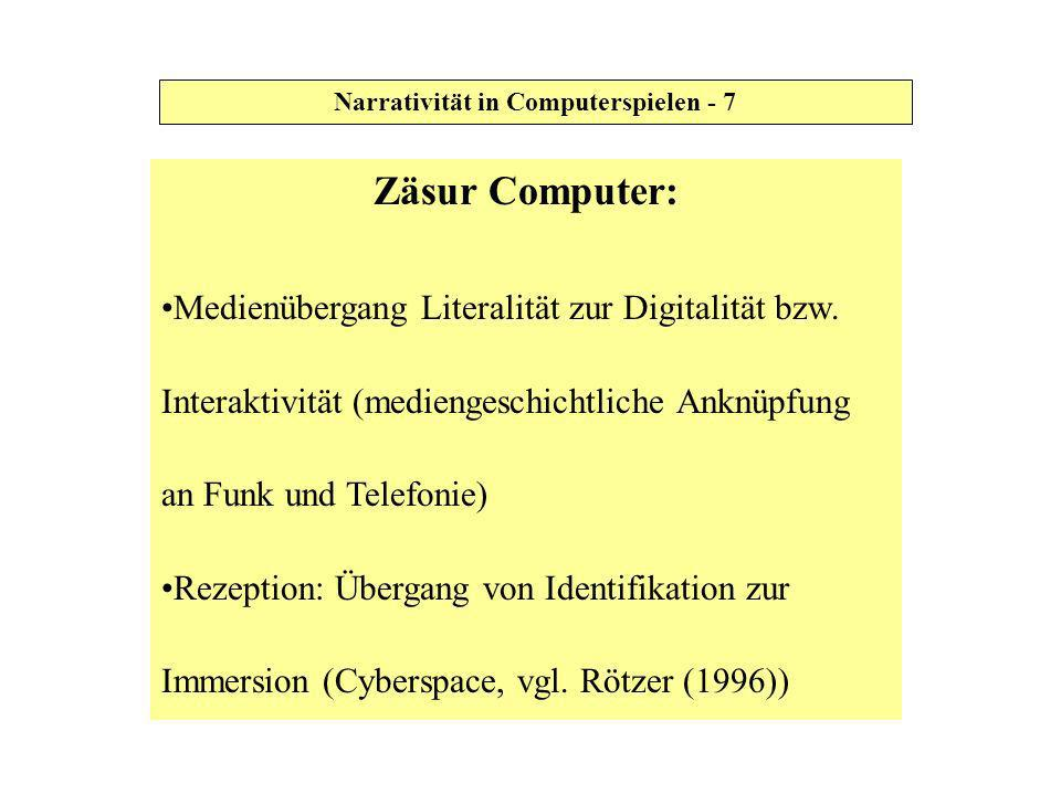 Narrativität in Computerspielen - 7