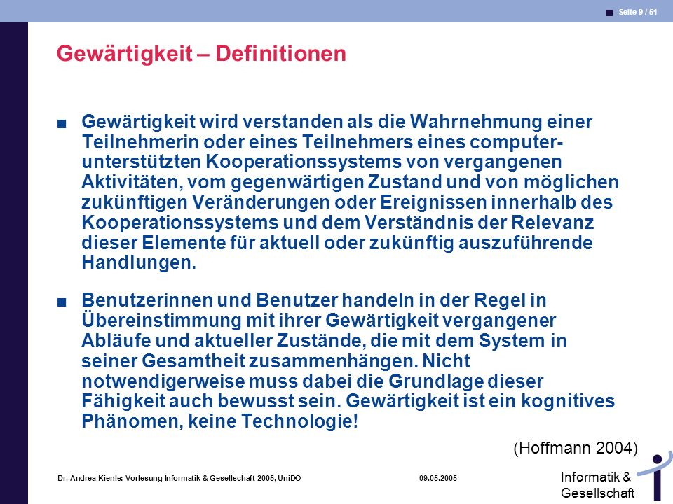 Gewärtigkeit – Definitionen