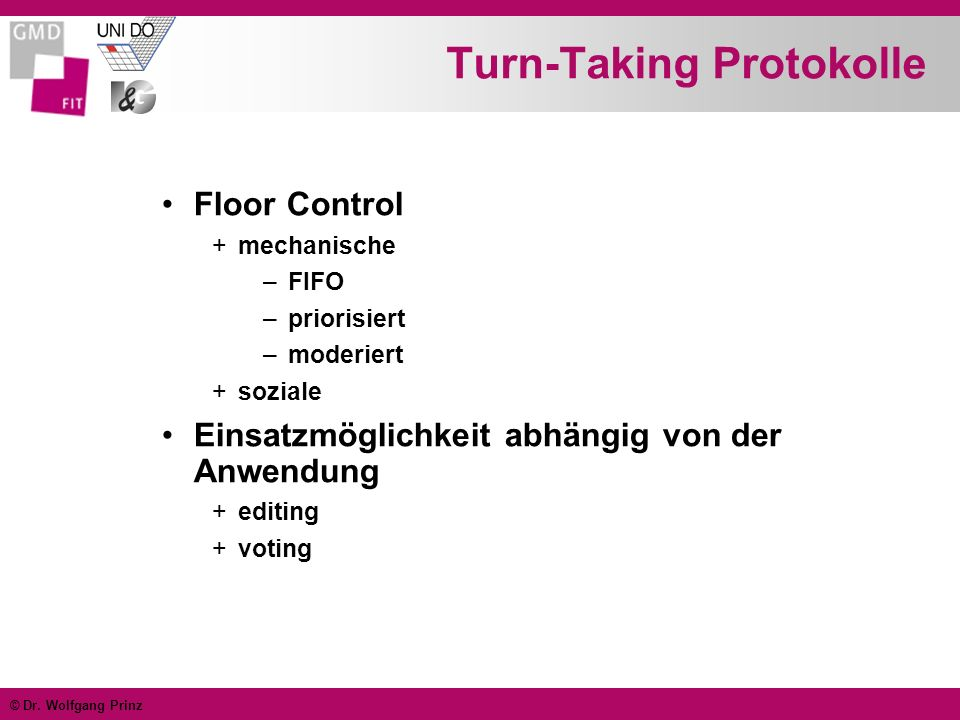 Turn-Taking Protokolle