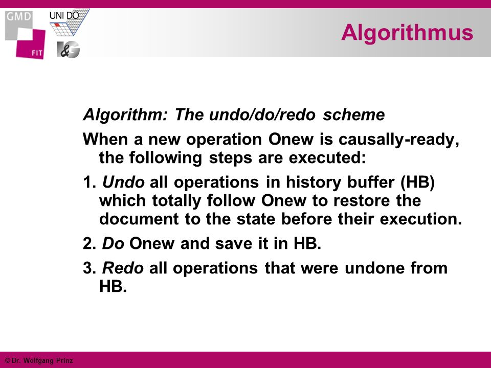 Algorithmus Algorithm: The undo/do/redo scheme