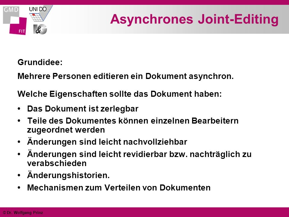 Asynchrones Joint-Editing