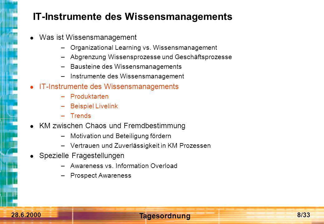 IT-Instrumente des Wissensmanagements