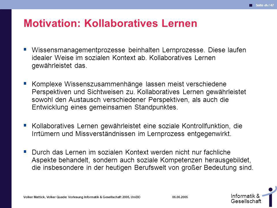 Motivation: Kollaboratives Lernen