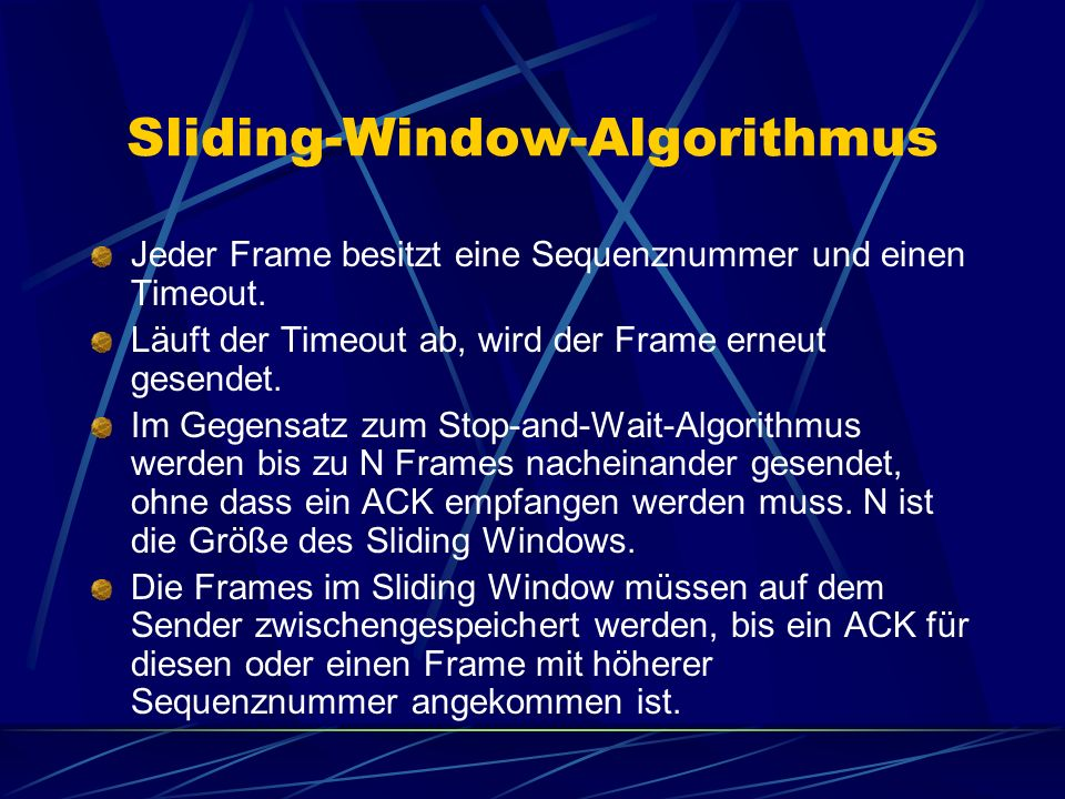 Sliding-Window-Algorithmus