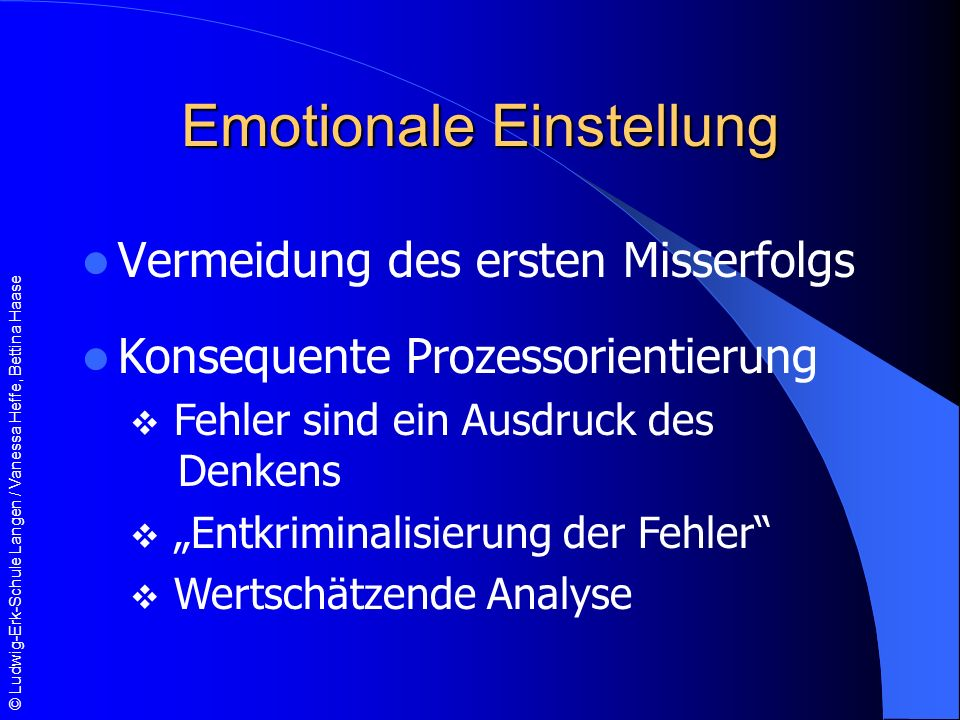 Emotionale Einstellung