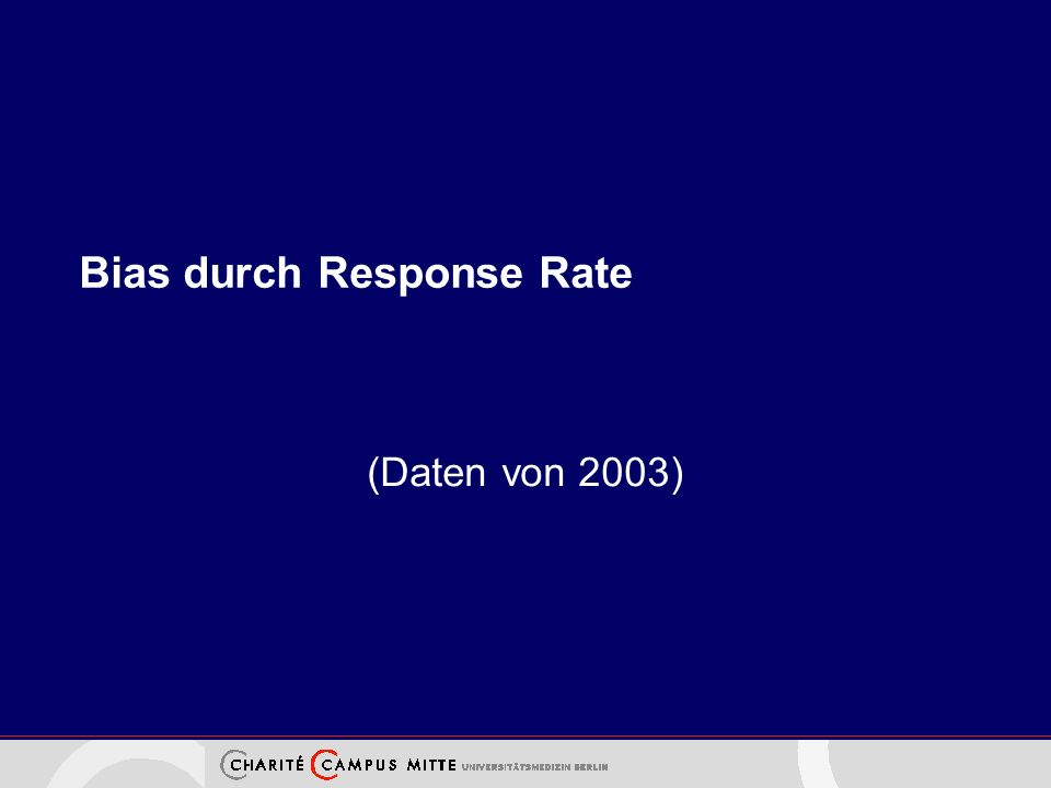 Bias durch Response Rate