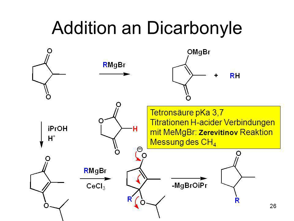 Addition an Dicarbonyle