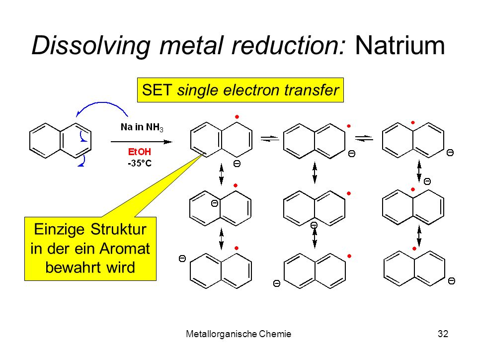 Dissolving metal reduction: Natrium