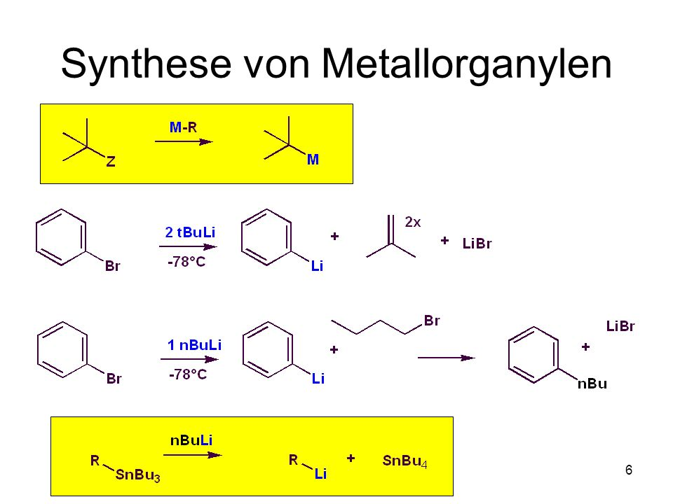 Synthese von Metallorganylen