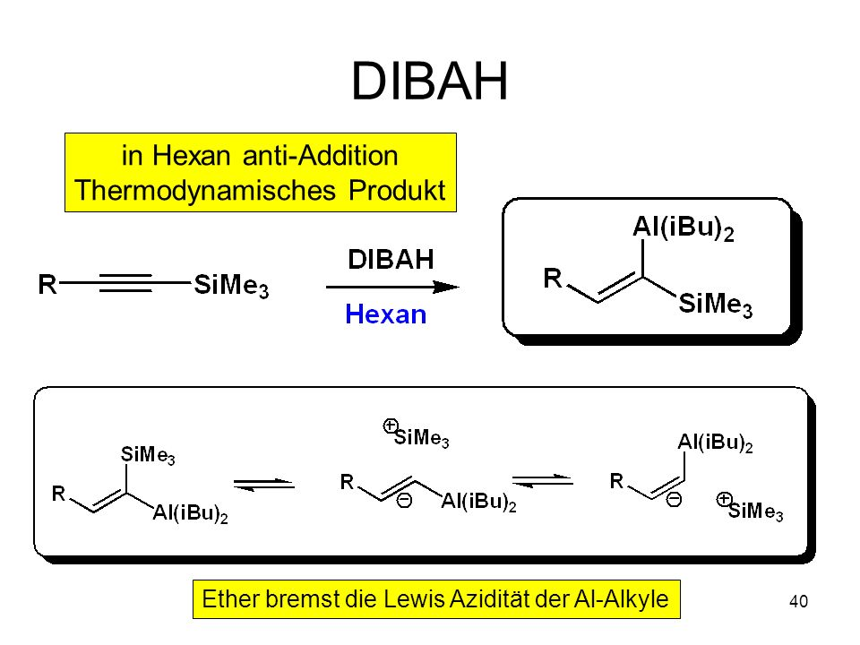 DIBAH in Hexan anti-Addition Thermodynamisches Produkt