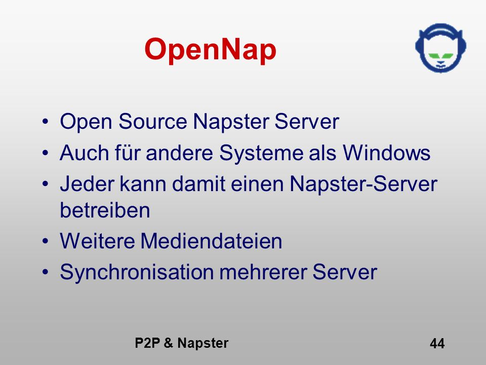OpenNap Open Source Napster Server Auch für andere Systeme als Windows
