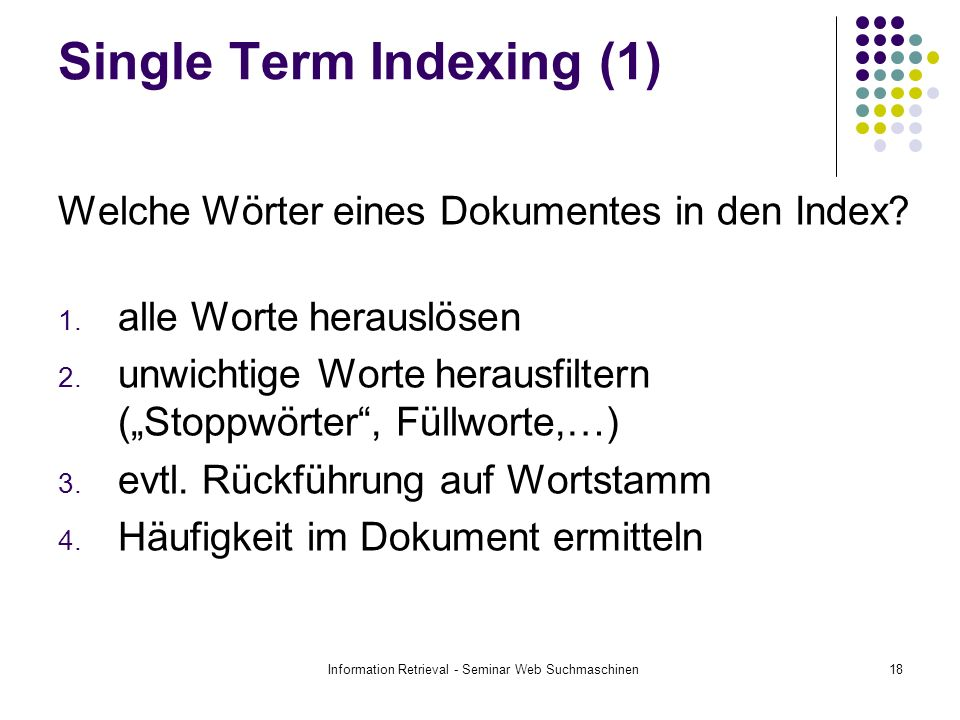 Single Term Indexing (1)