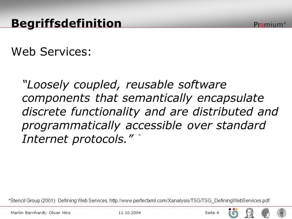 Begriffsdefinition Web Services: