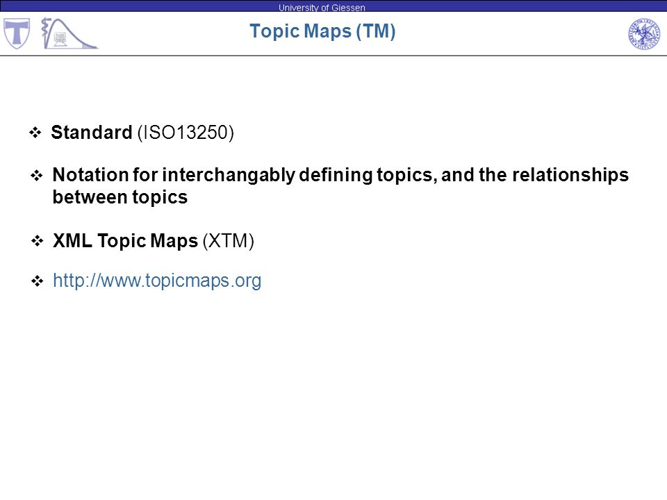 Notation for interchangably defining topics, and the relationships