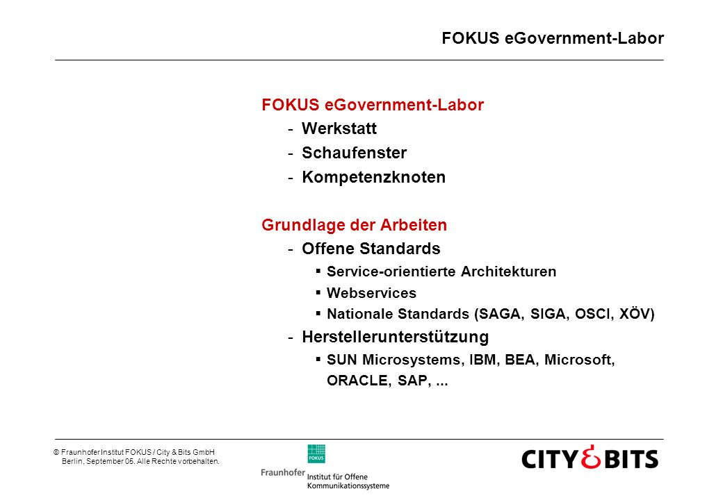 FOKUS eGovernment-Labor
