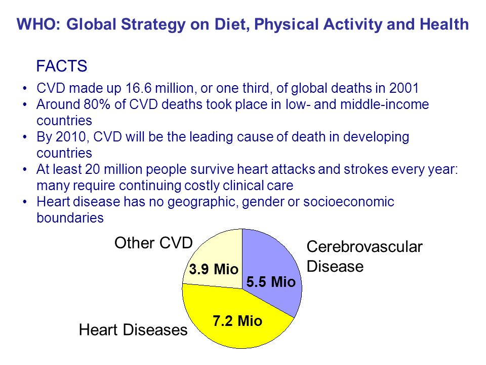WHO: Global Strategy on Diet, Physical Activity and Health