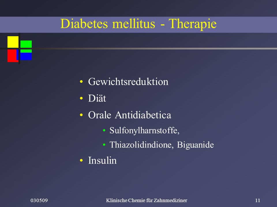 Diabetes mellitus - Therapie