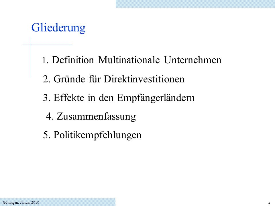 1. Definition Multinationale Unternehmen