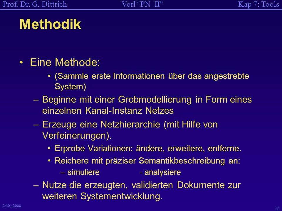 Methodik Eine Methode: