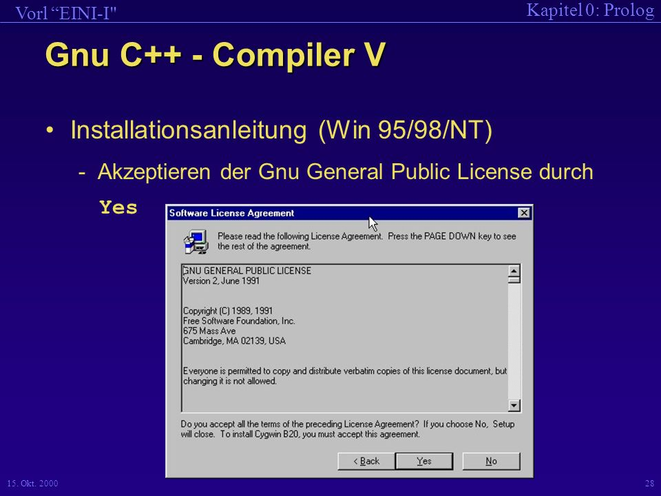 Gnu C++ - Compiler V Installationsanleitung (Win 95/98/NT)