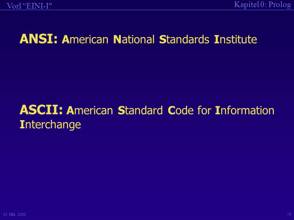 ANSI: American National Standards Institute