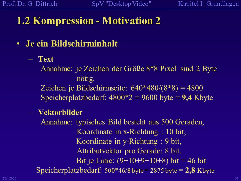 1.2 Kompression - Motivation 2