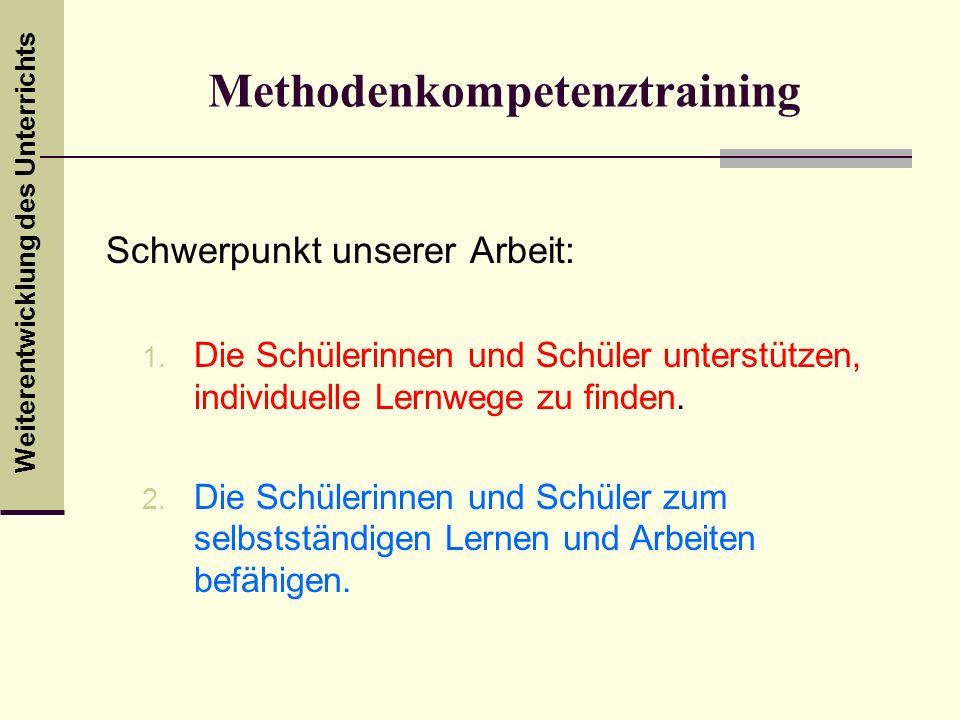Methodenkompetenztraining