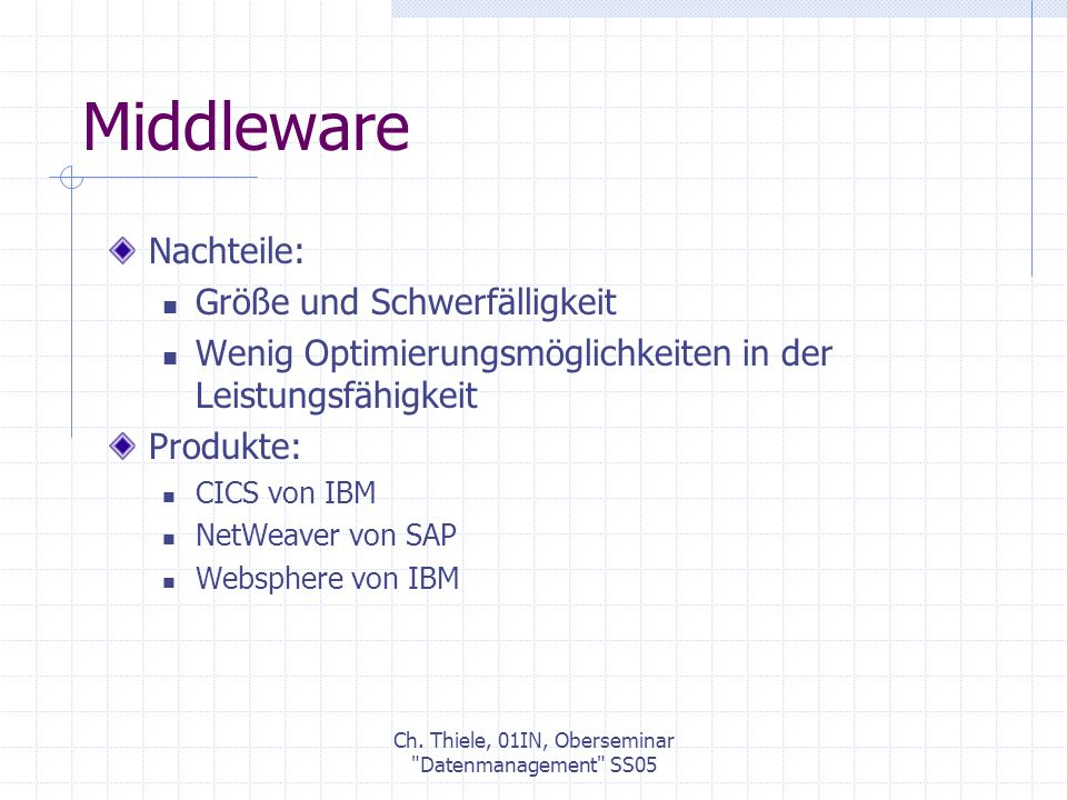 Ch. Thiele, 01IN, Oberseminar Datenmanagement SS05