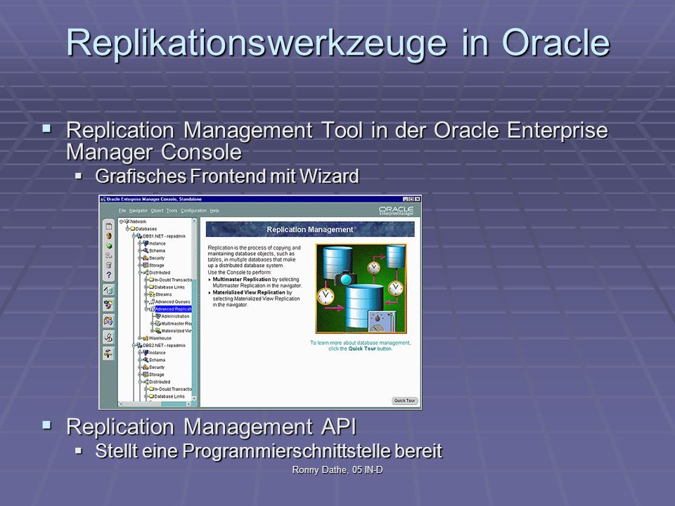 Replikationswerkzeuge in Oracle