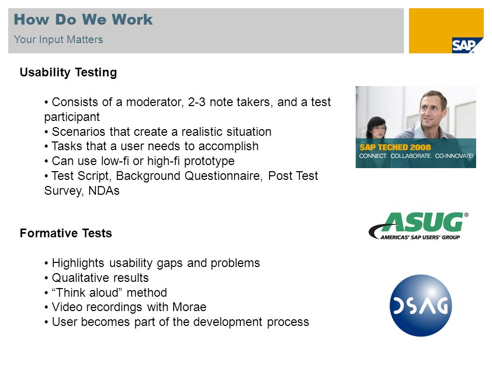 How Do We Work Usability Testing
